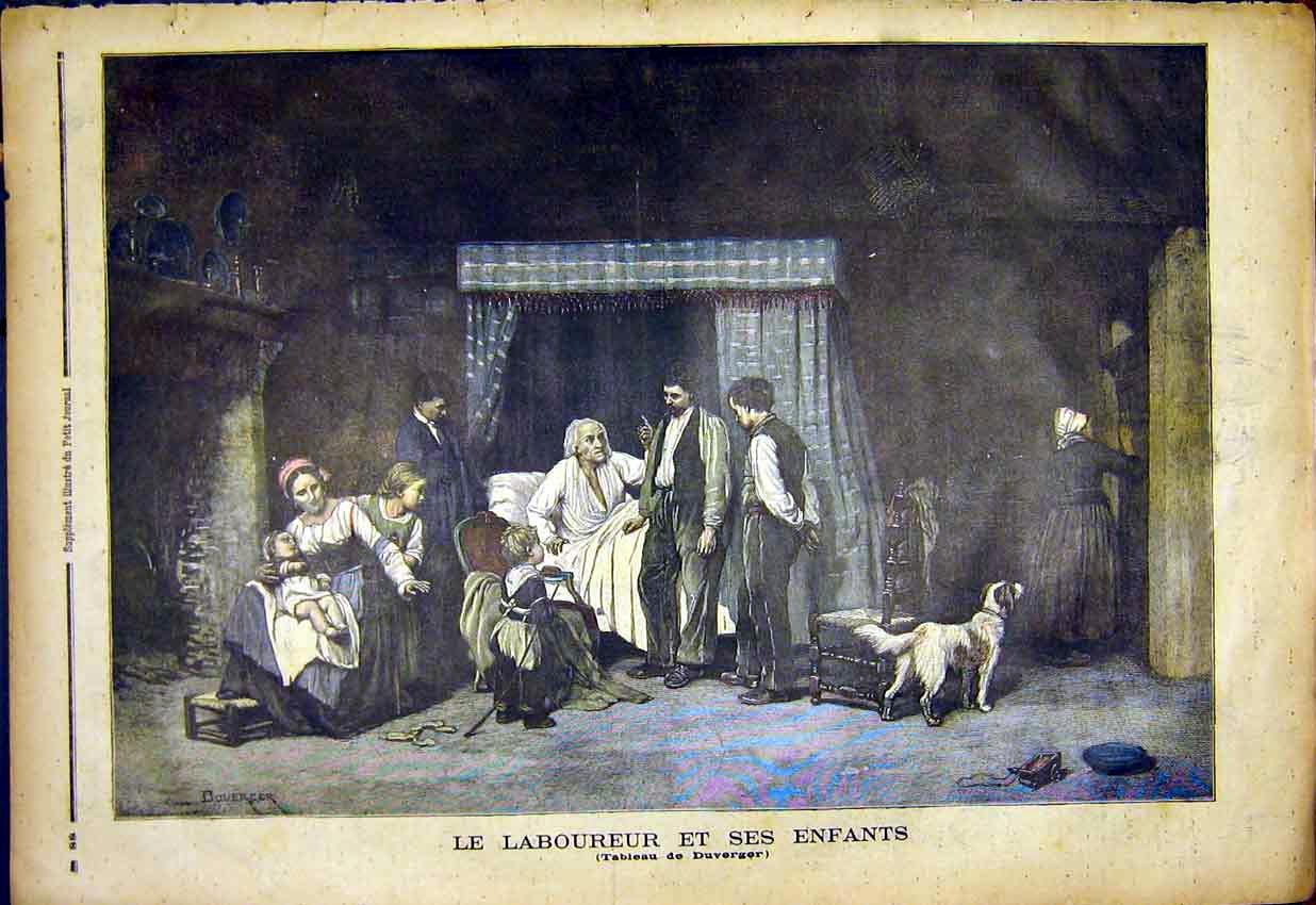 Le laboureur et ses enfants_ gravure