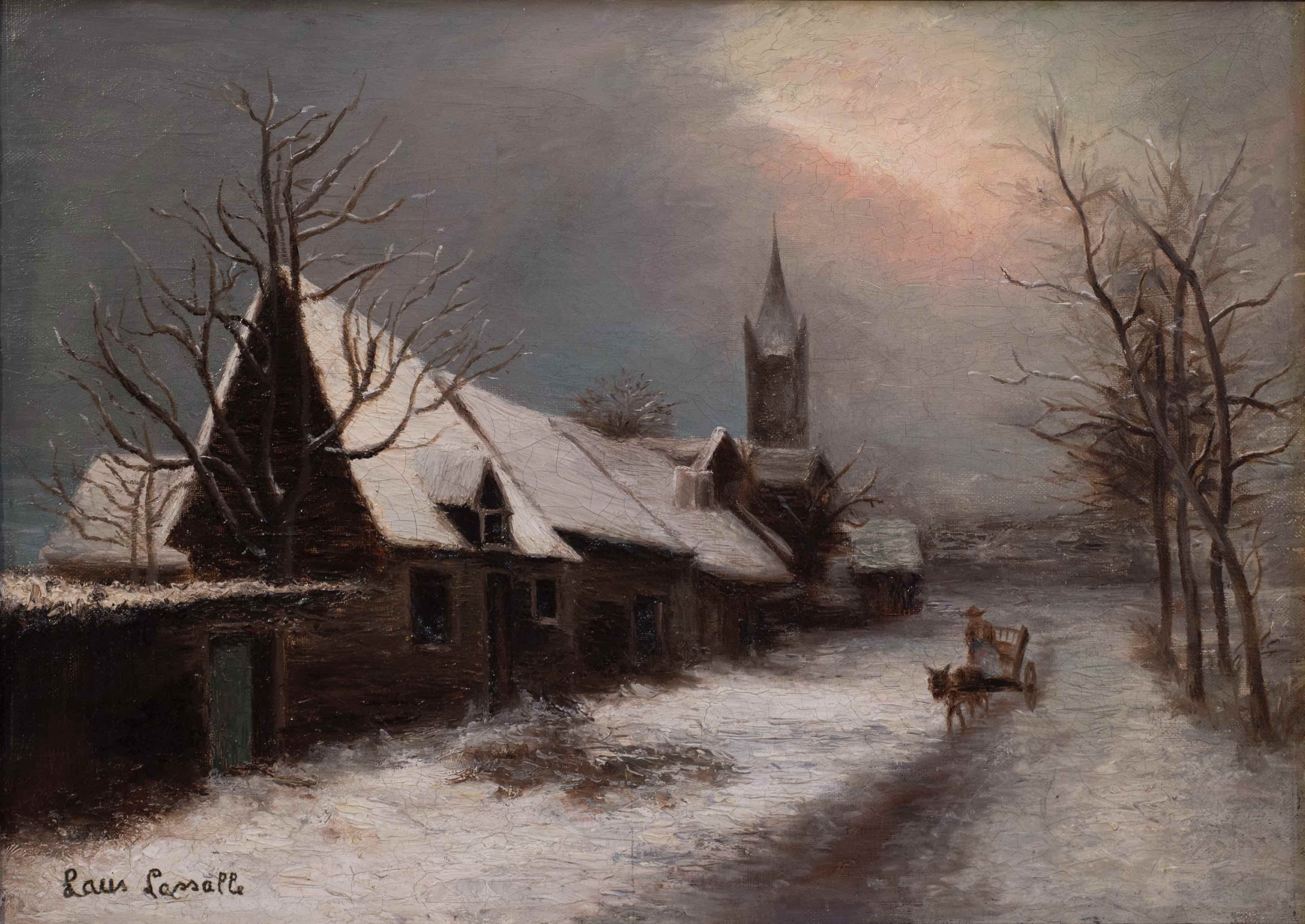 Winter view of a village