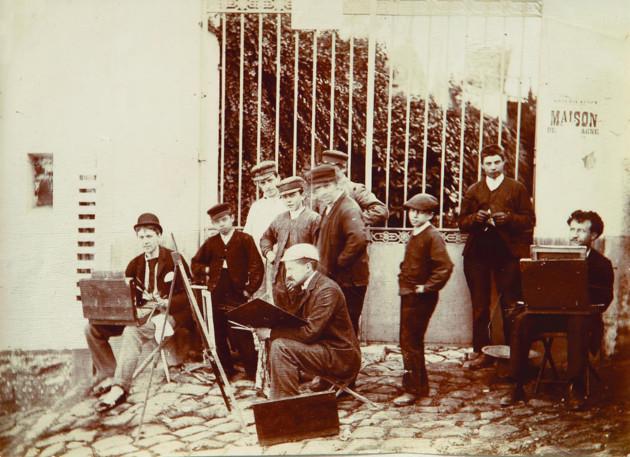 Luigi Chialiva est le plus à droite sur la photo