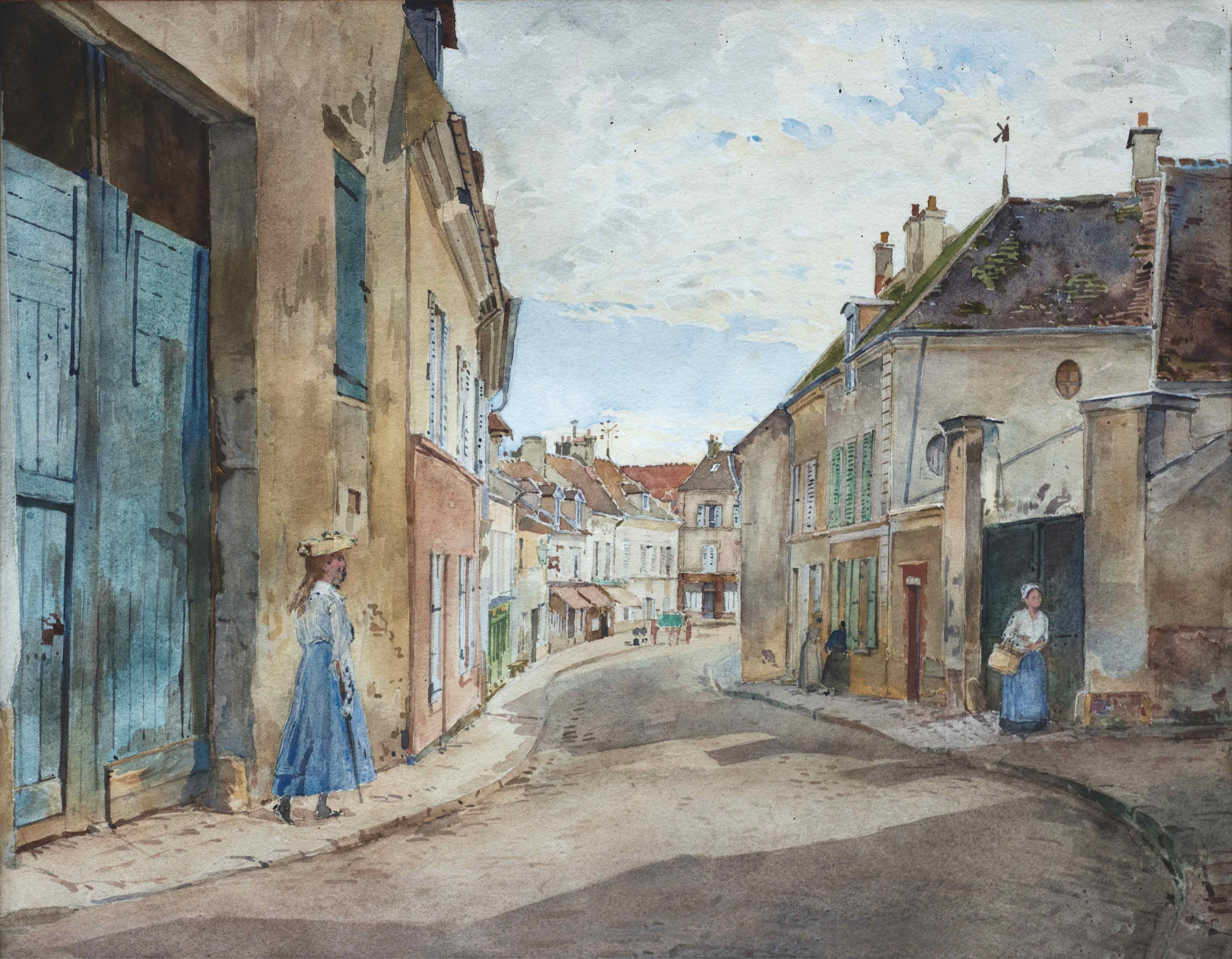 Ecouen's church street