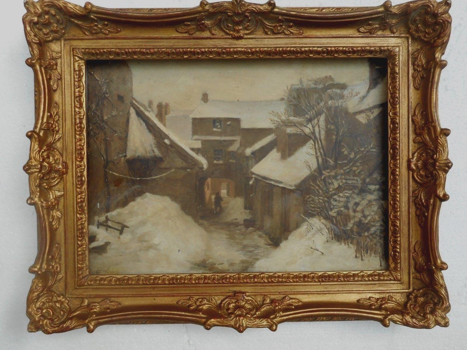 Village under the snow