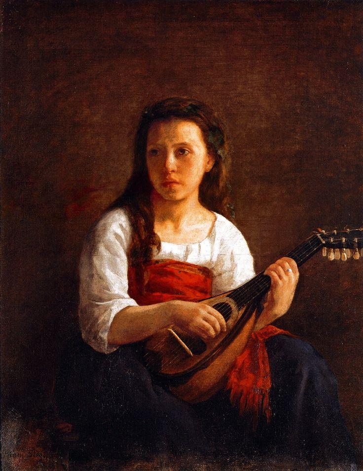La femme à la mandoline