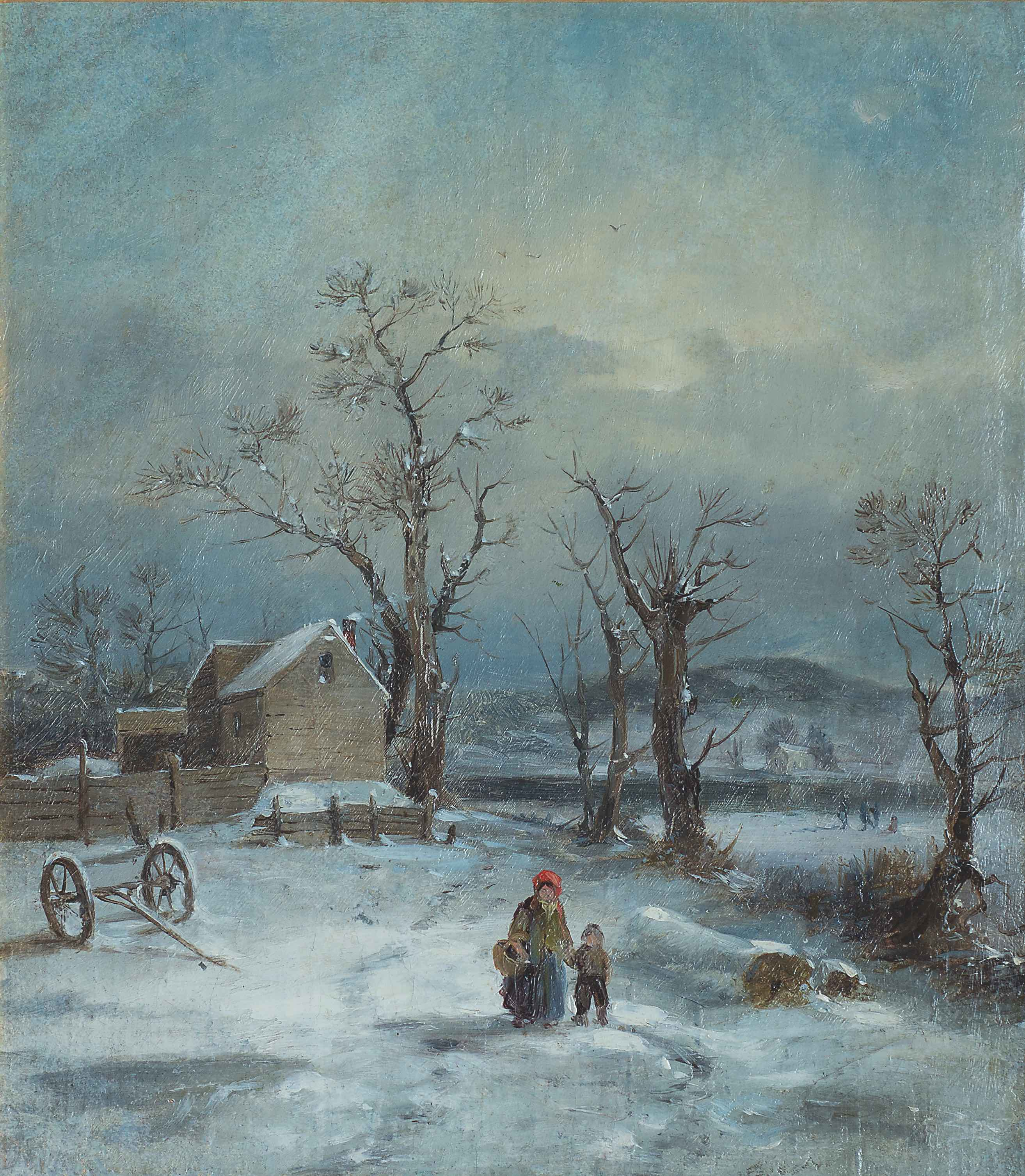 George Boughton-paysage d'hiver