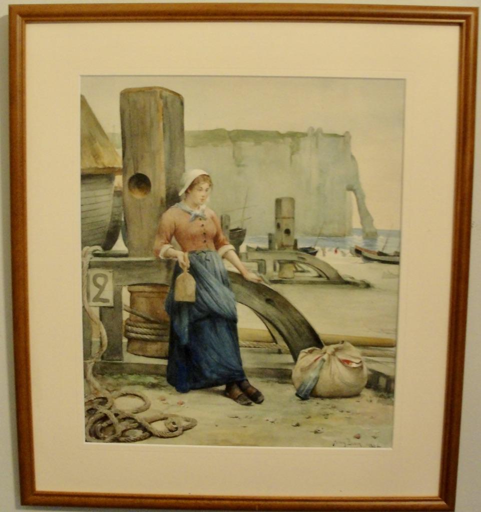 Washing lady in Etretat