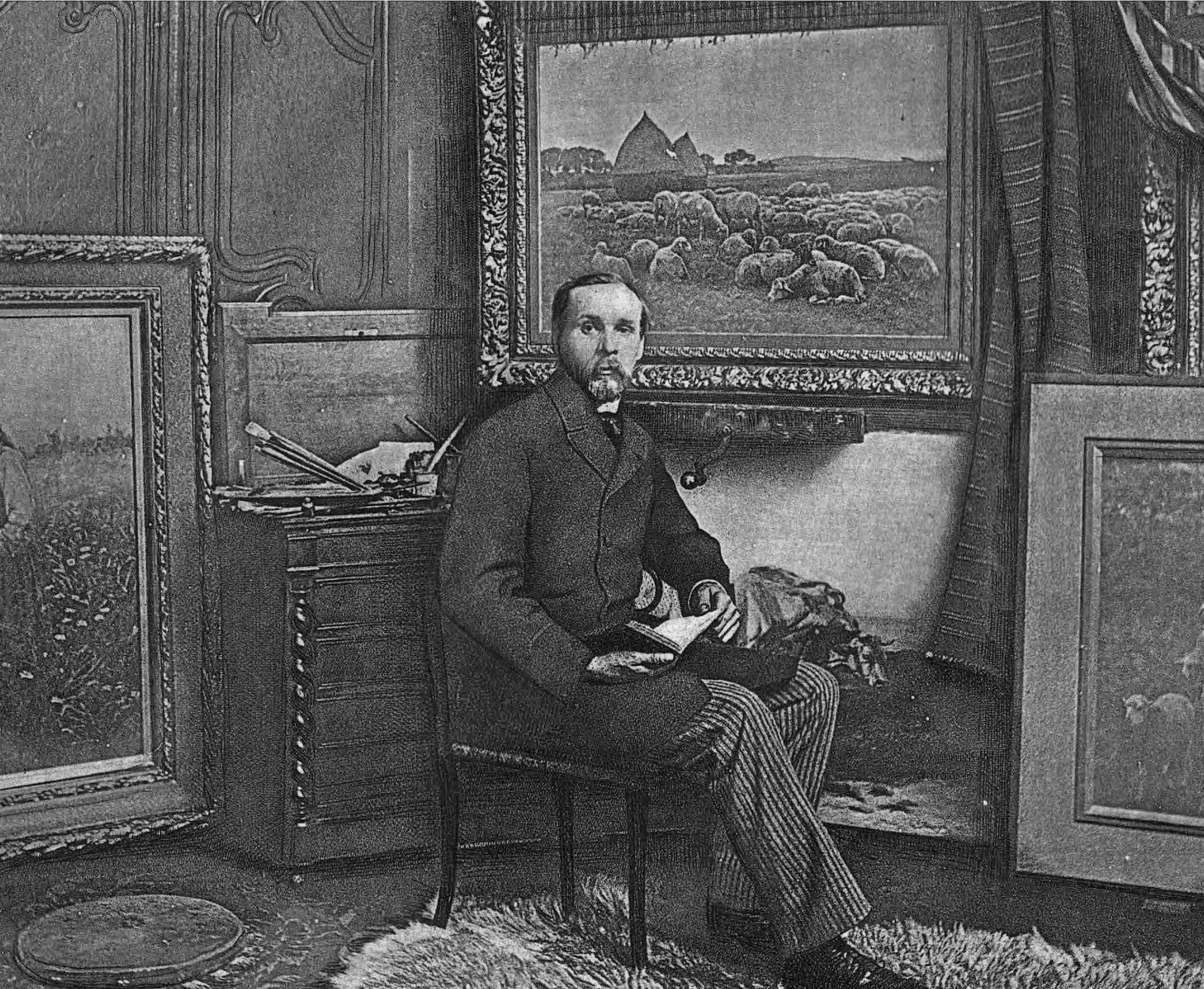 Gaylord Truesdell in his workshop - 1894