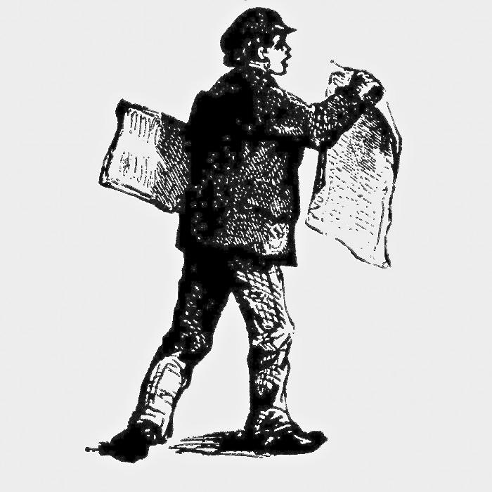 Little newspaper seller