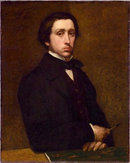 Degas self portrait 1855