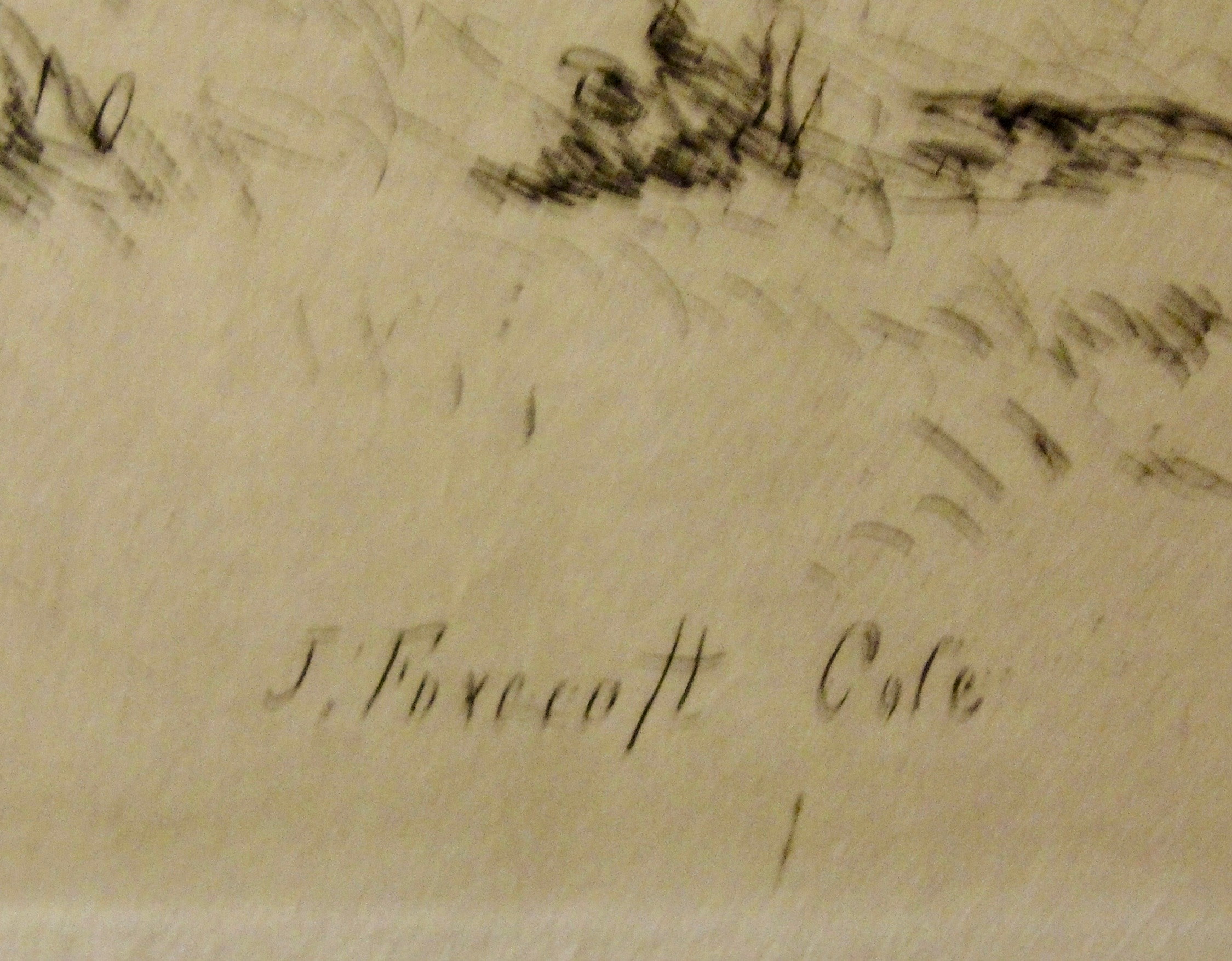 Signature in the engraving