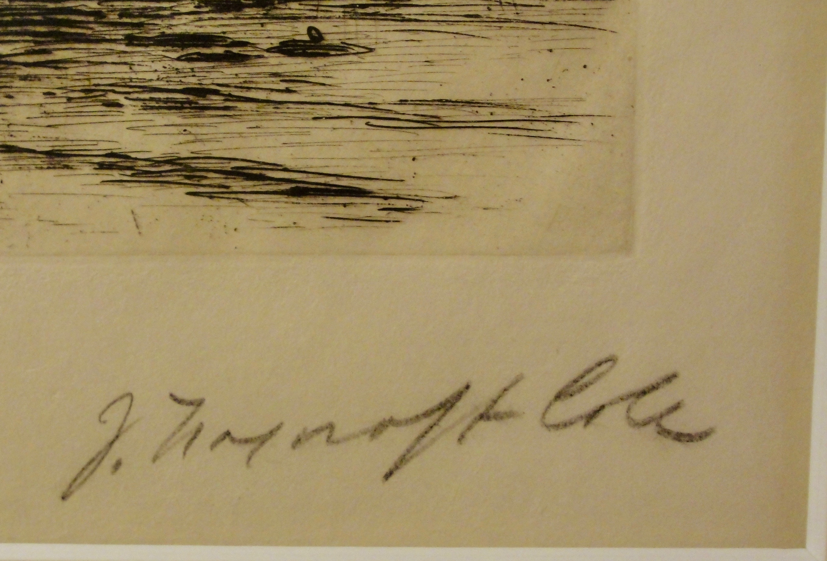 Signature on the printing