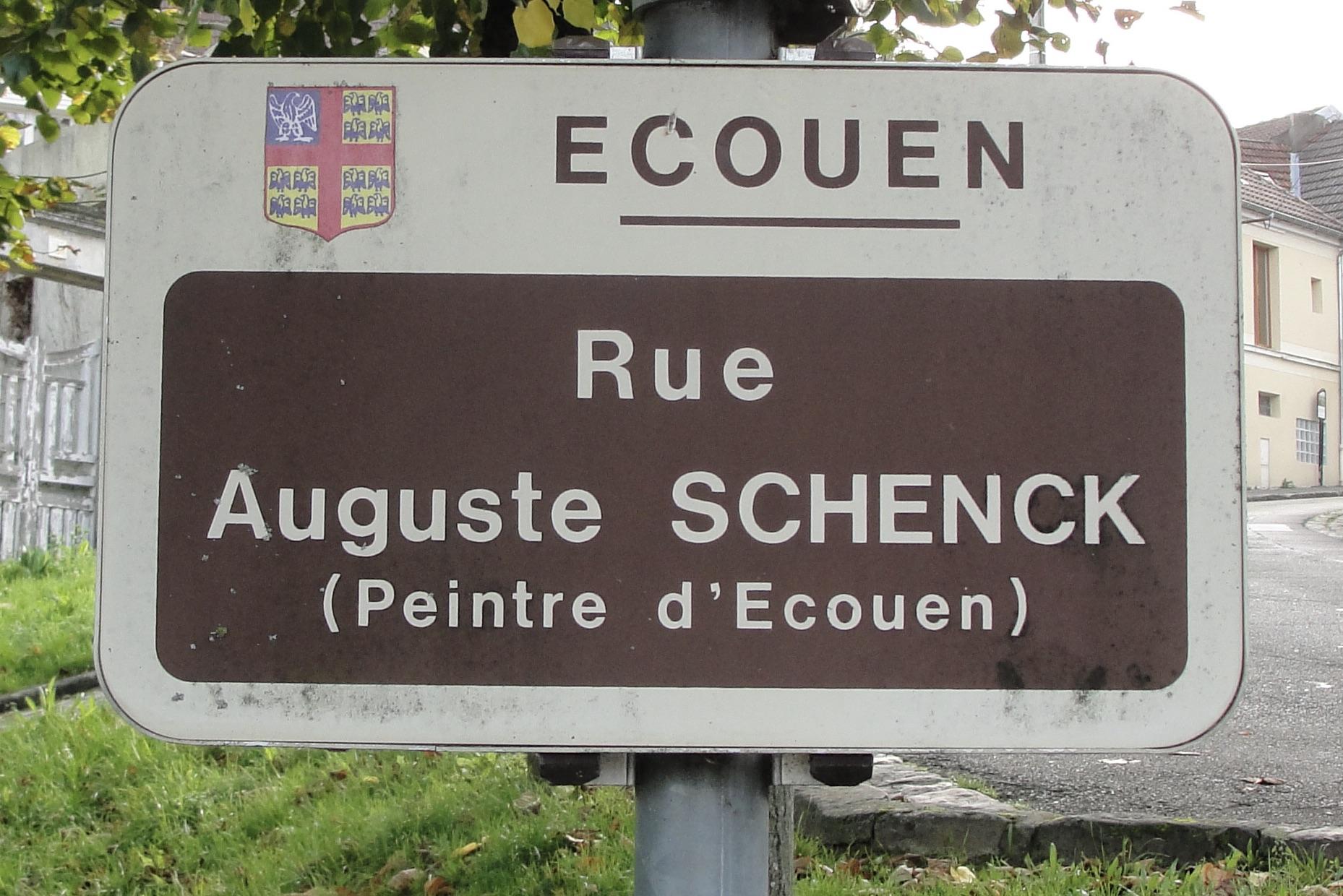 Plaque rue Schenck