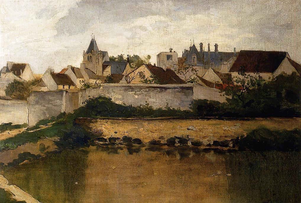 Daubigny - Village of Ecouen (not Auvers-sur-Oise)