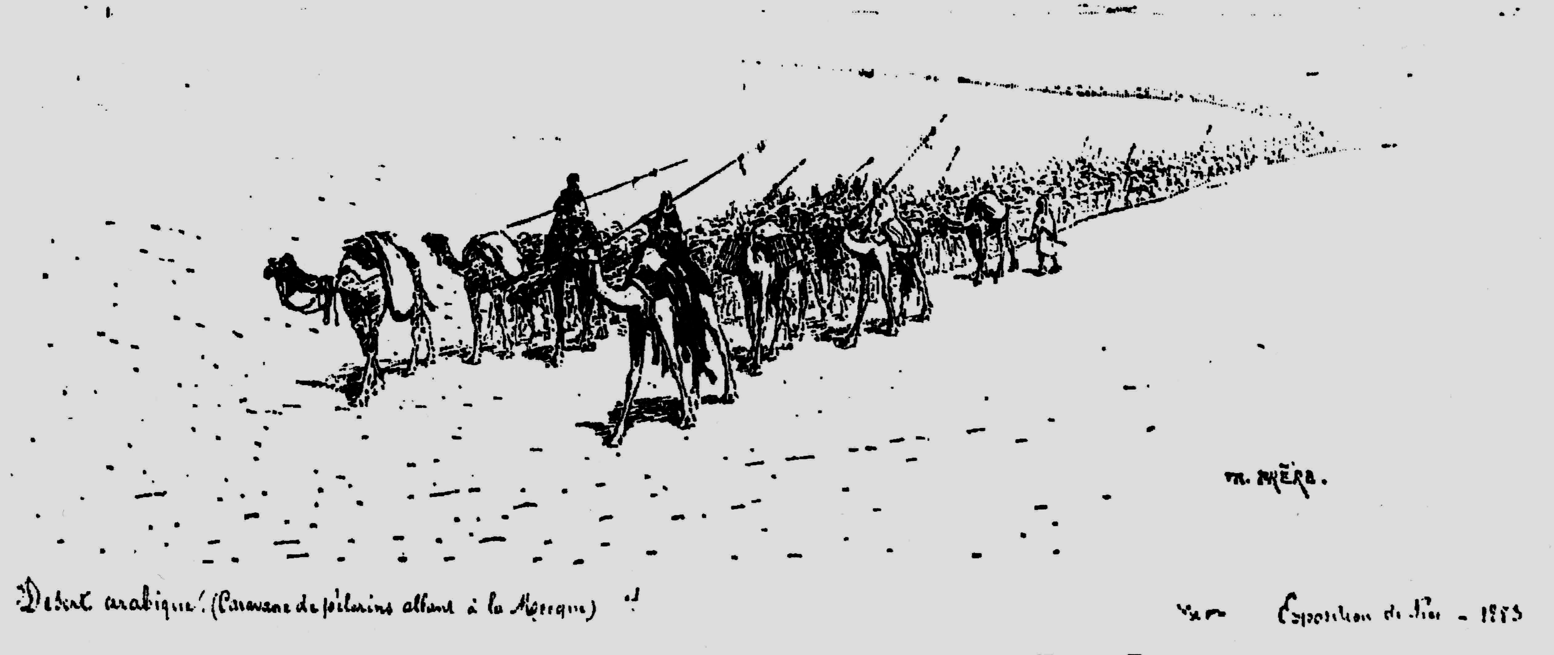 Caravane vers La Mecque (Theodore Frere)