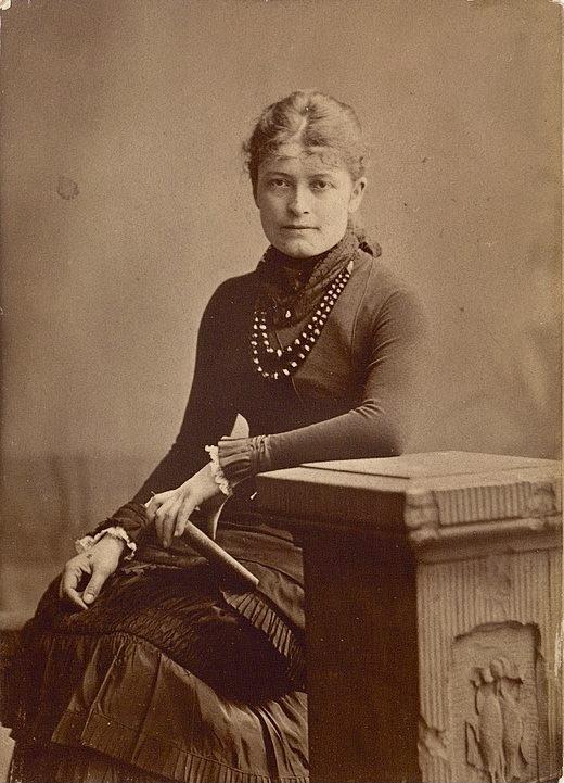 Bertha Wegmann en 1891