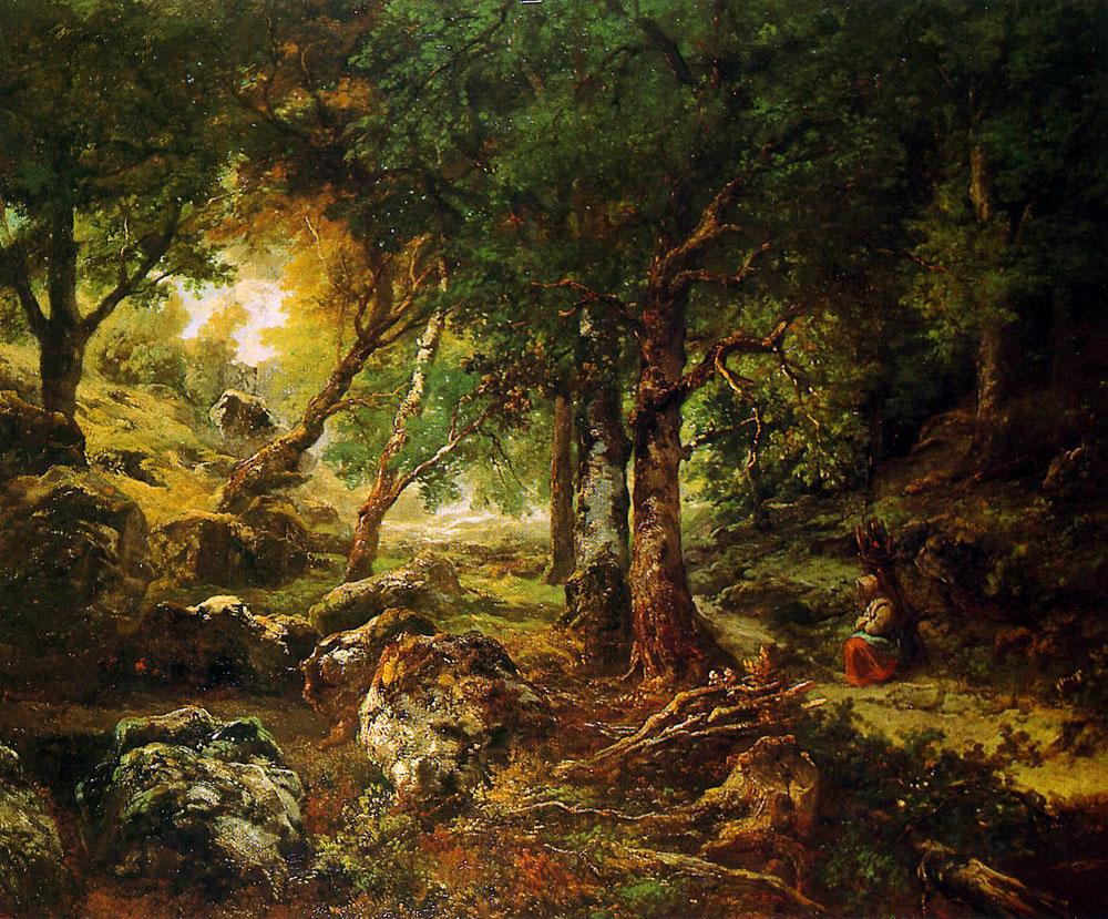 Chêne dans forêt (Theodore rousseau)